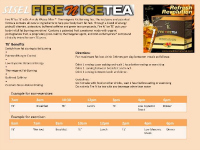 Fire N Ice Usage information sheet