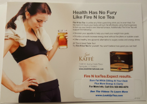 Fire N Ice Tea Post Card